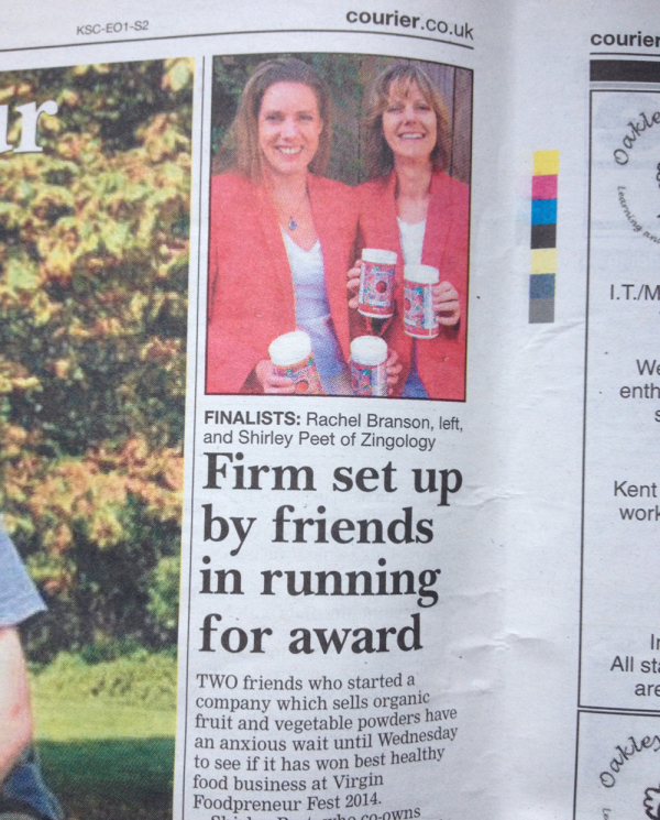 Courier newspaper – Firm set up by friend in running for award