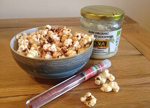 strawberry and coconut popcorn 500x360